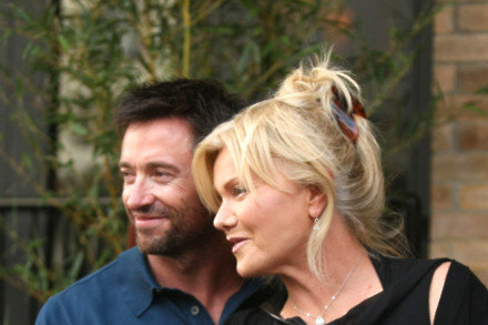 Deborah Lee-Furniss and Hugh Jackman