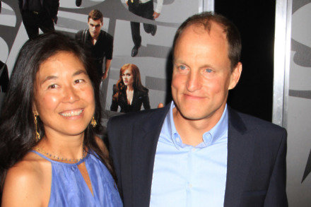 Woody Harrelson and Laura Louie (Credit: Famous)