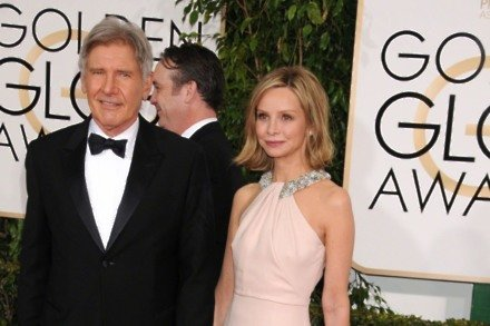 Calista Flockhart and Harrison Ford (Credit: Famous)