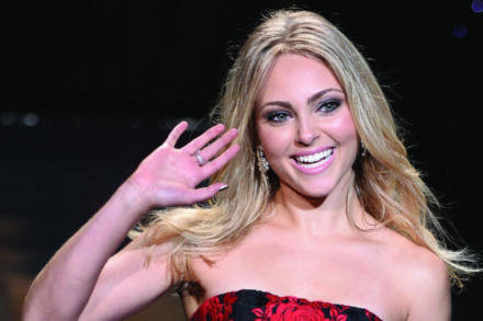 AnnaSophia Robb looked beautiful on the runway