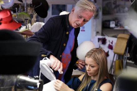 Philip Treacy adds the finishing touches
