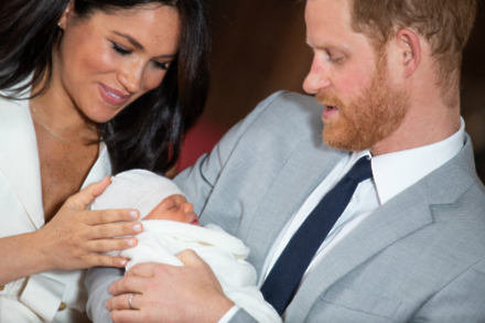 The Duke and Duchess of Sussex with their new baby / Photo Credit: Dominic Lipinski/PA Wire/PA Images