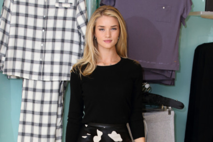 Rosie Huntington-Whiteley looked beautiful at the launch