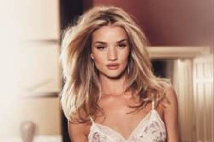 Rosie Huntington-Whiteley models her latest collection for Marks and Spencer