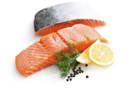 The essential fatty acids found in salmon have a positive effect on our health