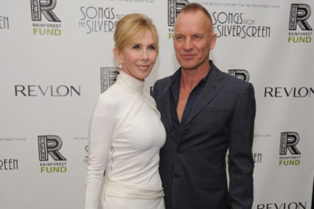 Trudie Styler with her husband, Sting