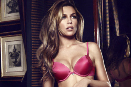 Abbey Clancy models the lingerie for Breast Cancer Awareness Month 30e9c2170