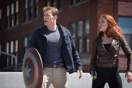 Chris Evans and Scarlett Johansson in Captain America: The Winter Soldier / Picture Credit: Marvel Studios