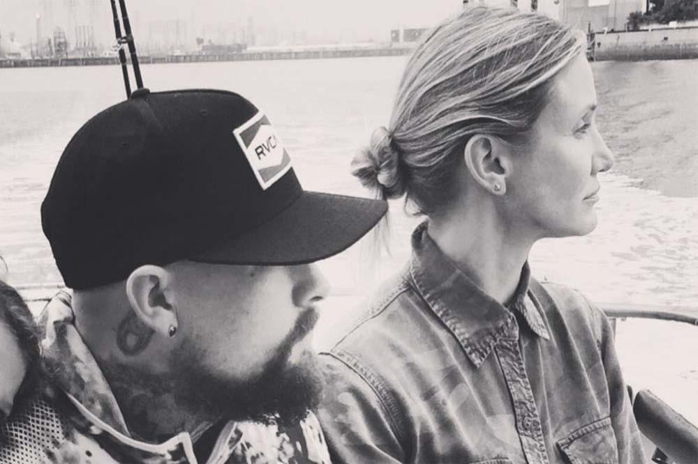 Benji Madden and Cameron Diaz (c) Instagram