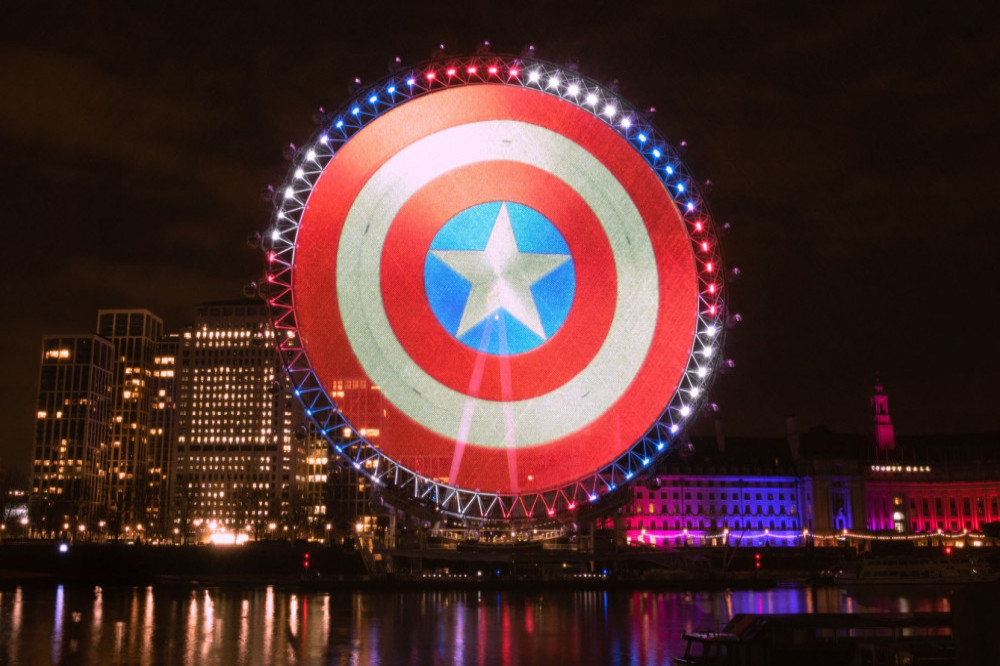 Captain America Shield on the London Eye