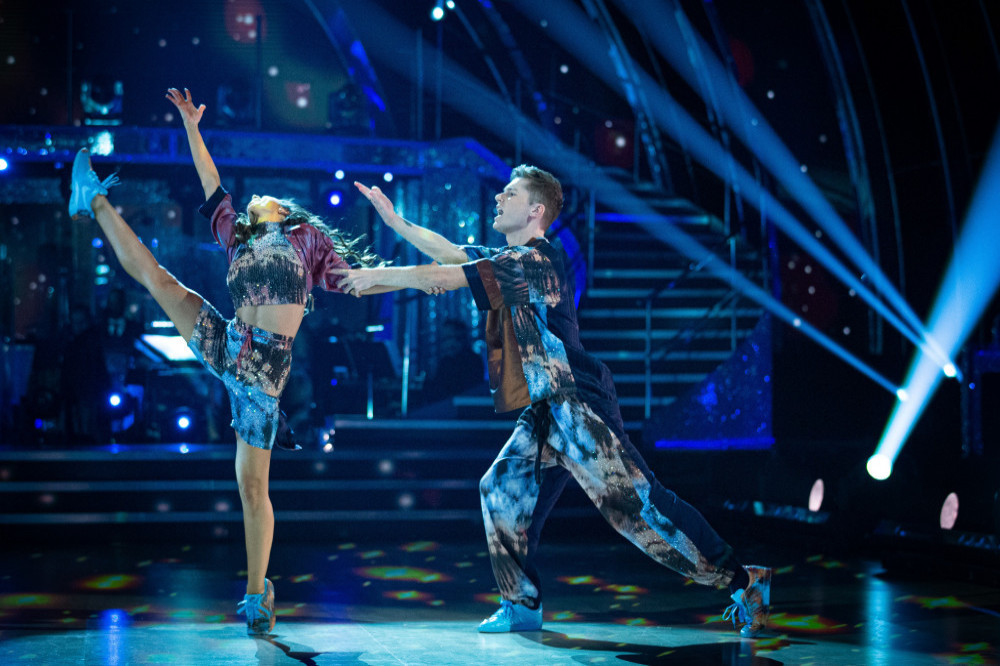 HRVY with Janette Manrara on Strictly Come Dancing