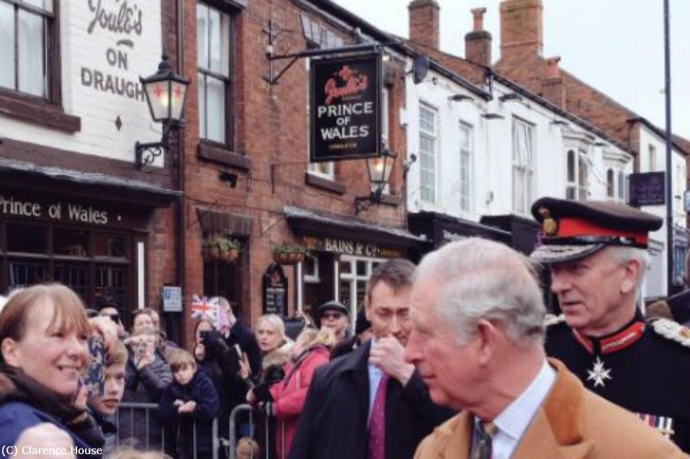 Prince Charles at the Prince of Wales pub (c) Clarence House