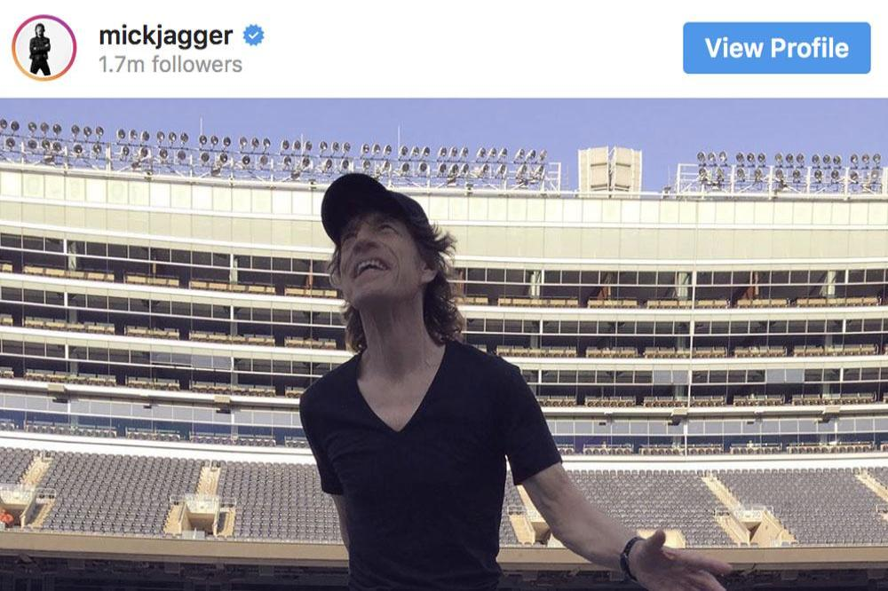 Sir Mick Jagger at Soldier Field, Chicago (c) Instagram