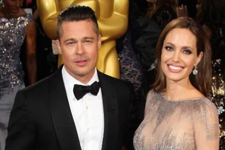 Brad Pitt and Angelina Jolie in 2014