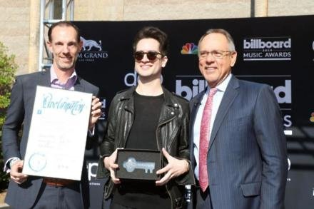 Brendon Urie receives Key to Vegas