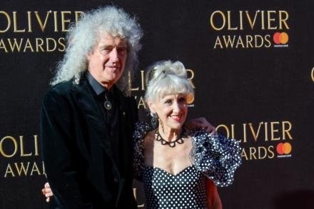 Brian May and Anita Dobson
