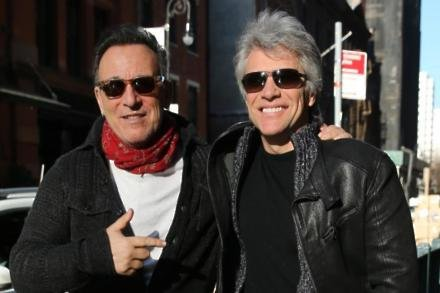 Bruce Springsteen and Jon Bon Jovi