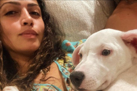 Camila Alves McConaughey and her new puppy (c) Instagram