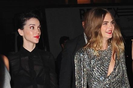 Cara Delevingne and girlfriend St Vincent at premiere