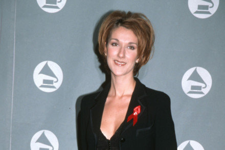 Celine Dion at the 1996 Grammys
