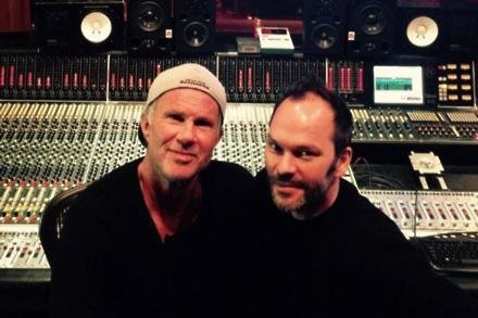 Chad Smith and Nigel Godrich (c) Twitter