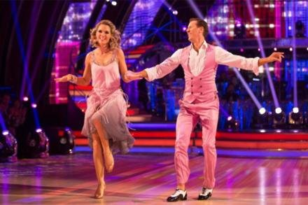 Charlotte Hawkins and Brendan Cole on Strictly Come Dancing in 2017