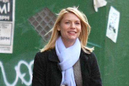 Claire Danes filming Homeland