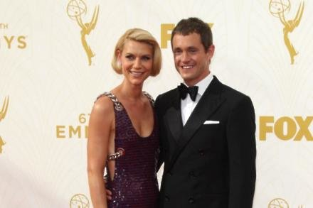 Claire Danes and her husband Hugh Dancy at the Emmy Awards