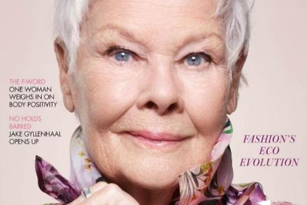 Dame Judi Dench on Vogue cover
