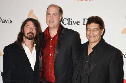 Dave Grohl, Krist Novoselic and Pat Smear