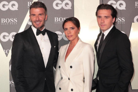 David, Victoria and Brooklyn Beckham at the GQ Men of the Year Awards 2019