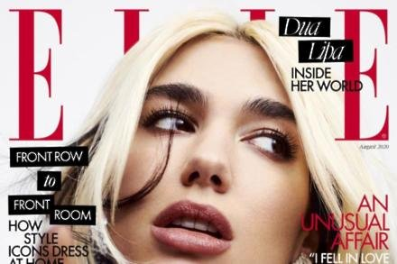 Dua Lipa covers ELLE UK's August issue