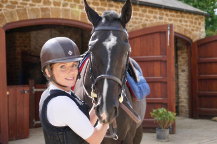 Geri Horner and her horse Beauty