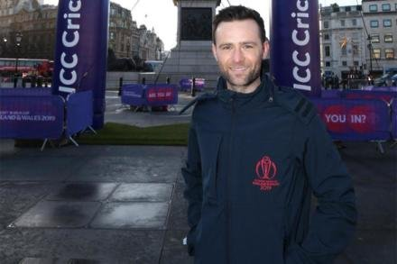 ICC Men's Cricket World Cup Ambassador Harry Judd celebrates 100 days to go until the tournament