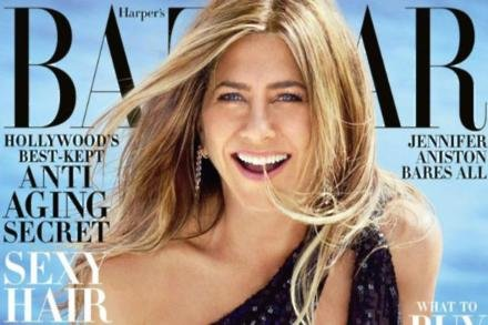 Jennifer Aniston on cover of Harper's Bazaar
