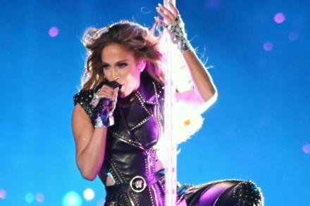 Jennifer Lopez at the Super Bowl