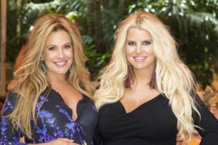 Cacee Cobb with Jessica Simpson at baby shower