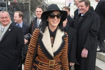 Katy Perry looked chic at the Inauguration