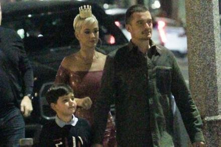 Katy Perry with Orlando and Flynn Bloom