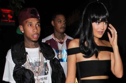 Rapper Tyga and Kylie Jenner