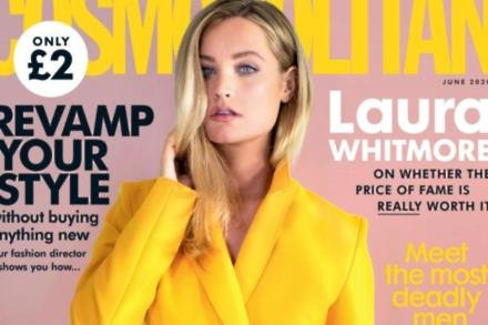 Laura Whitmore on the cover of Cosmopolitan UK magazine