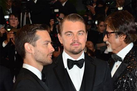 Leonardo DiCaprio and Tobey Maguire at The Great Gatsby premiere in Cannes