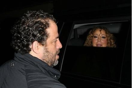 Brett Ratner and Mariah Carey
