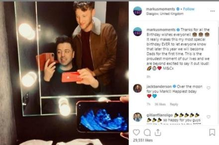 Mark Feehily's baby announcement (c) Instagram