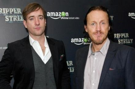 Matthew MacFadyen and Jerome Flynn at the premiere of Ripper Street series three
