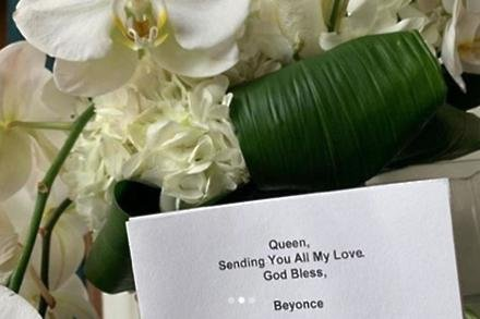 Megan Thee Stallion's flowers from Beyonce (c) Instagram