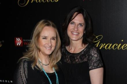 Melissa Etheridge and wife Linda Wallem