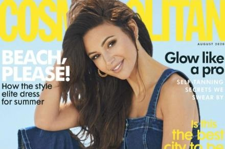 Michelle Keegan covers Cosmopolitan's August issue
