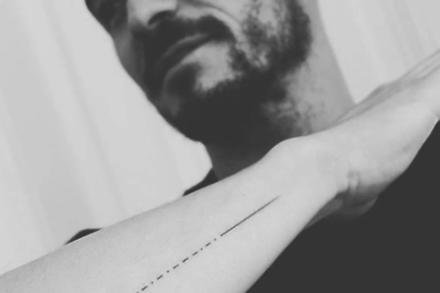 Orlando Bloom's tattoo (c) Instagram