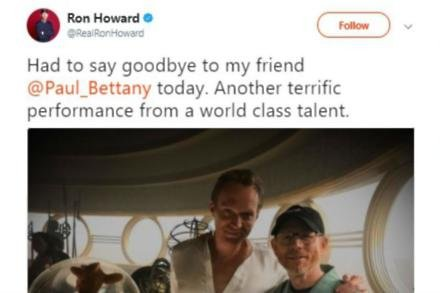 Paul Bettany and Ron Howard (c) Twitter